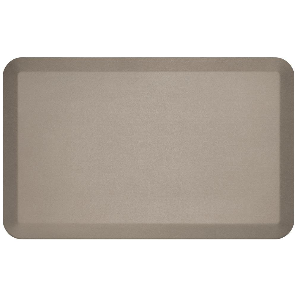 Pro Grade Brushed Stone (Grey) 20 in. x 32 in. Comfort Mat