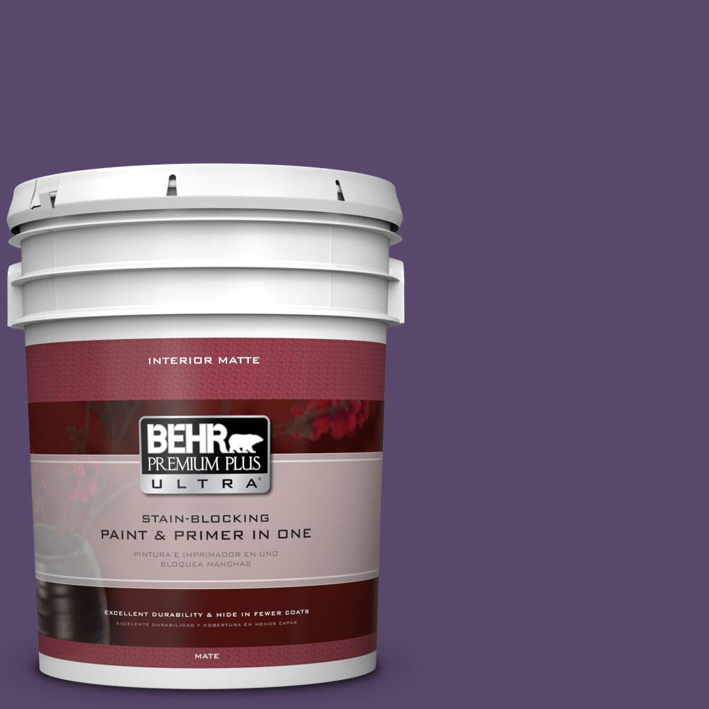 BEHR Premium Plus Ultra 5 gal. #P570-7 Proper Purple Matte Interior