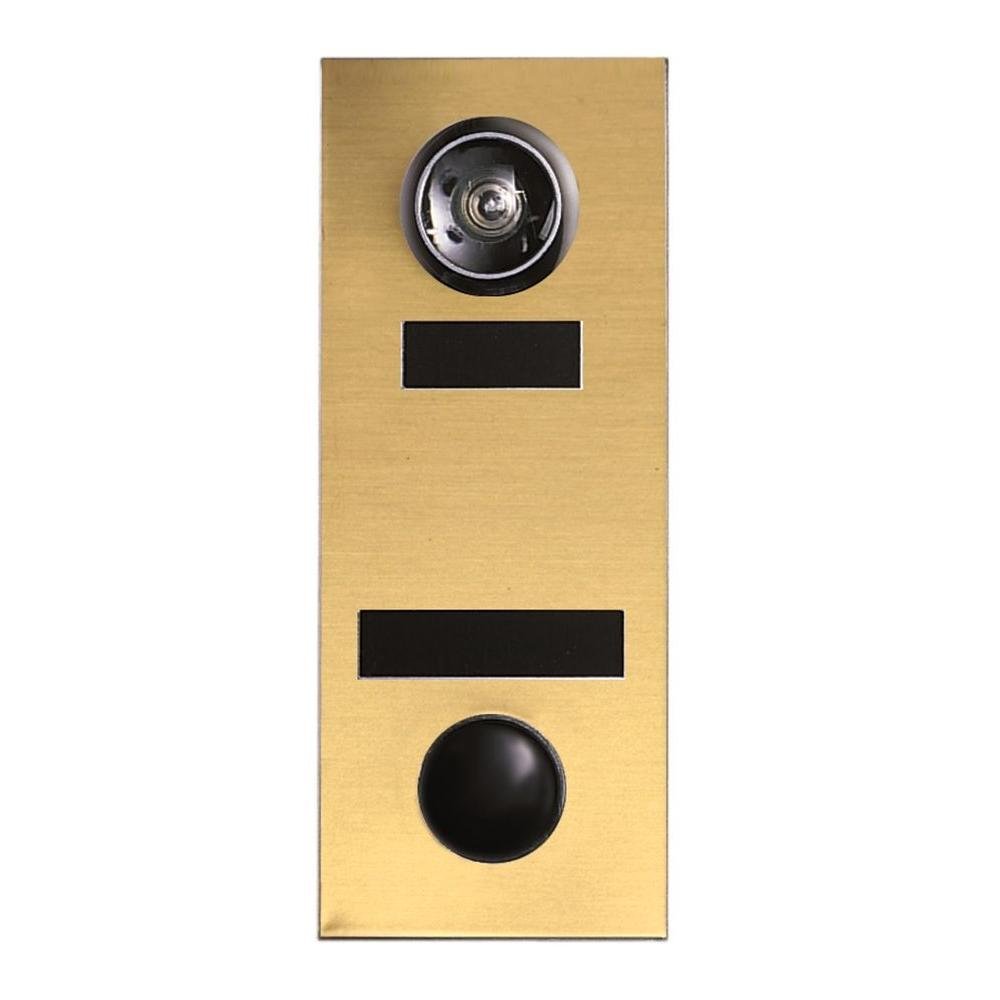 145 Degree Anodized Gold Door Viewer with Mechanical Chime