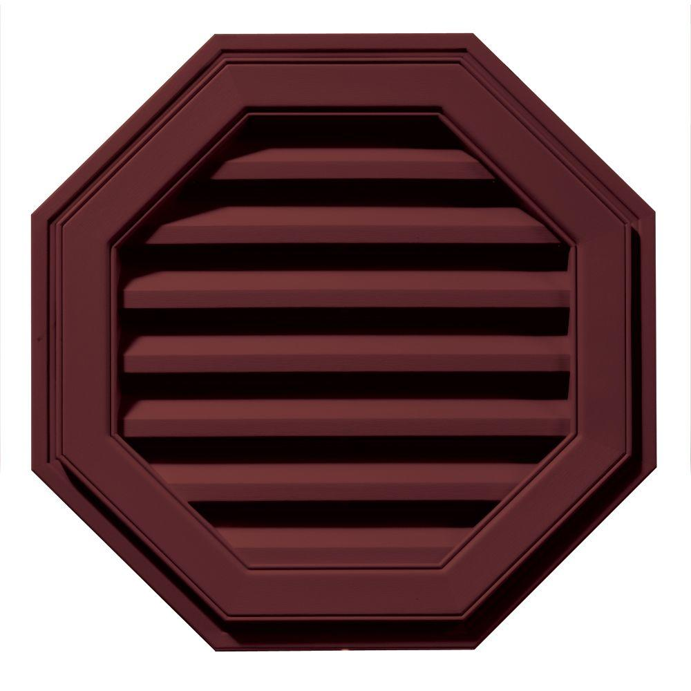 Builders Edge 22 in. Octagon Gable Vent in Wineberry-120012222078 - The