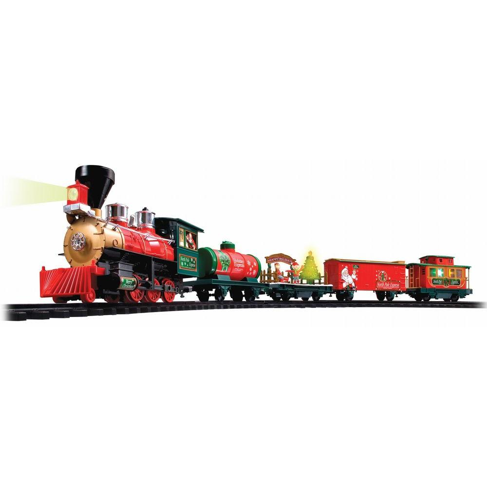 EZTEC Holiday Ornaments & Decor Battery Operated Wireless Remote Control North Pole Express Christmas Train Set 37297