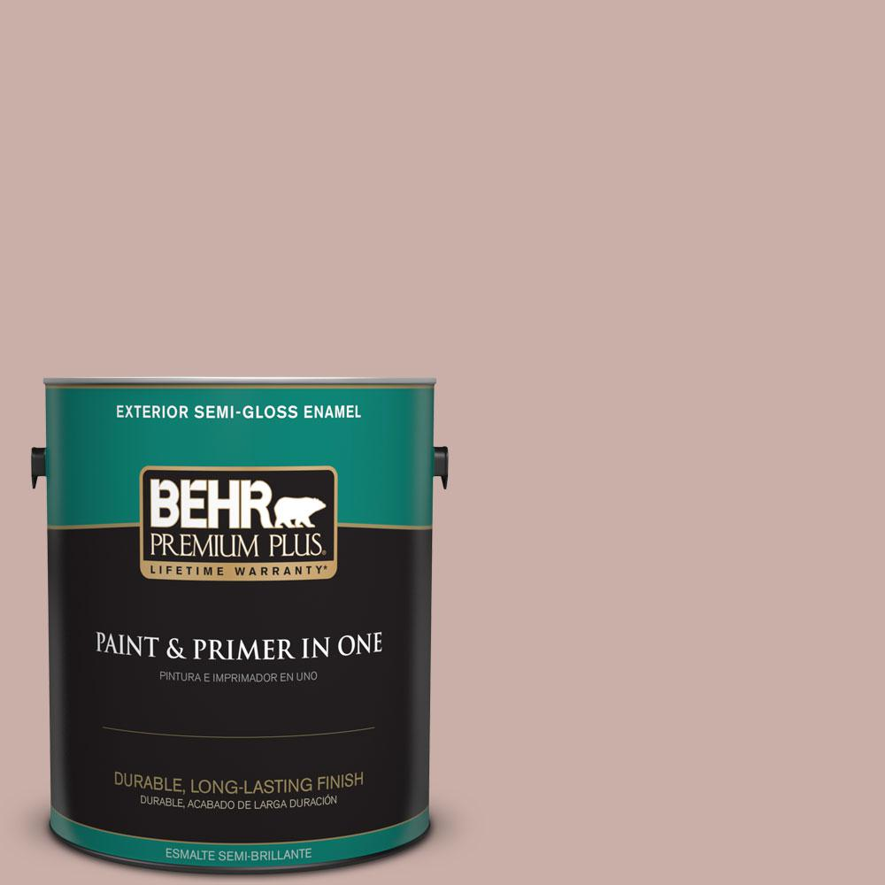 BEHR Premium Plus 1 gal. #HDC-CT-07A Vintage Tea Rose Semi-Gloss Enamel
