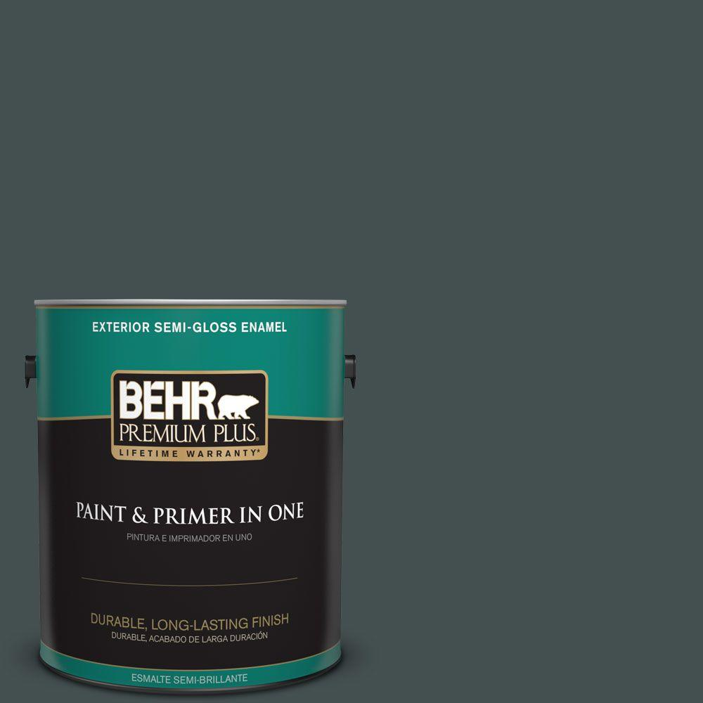 1 gal. #HDC-WR16-05 Evergreen Field Semi-Gloss Enamel Exterior Paint