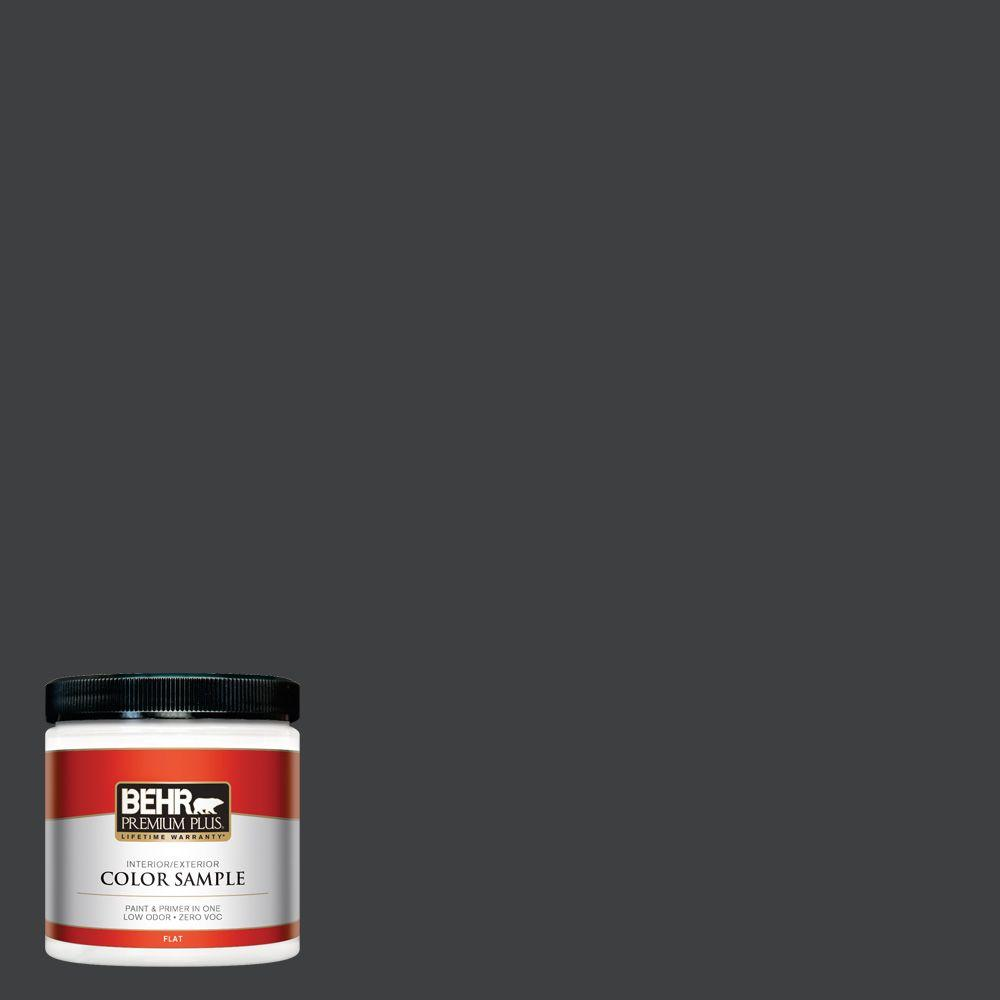 BEHR Premium Plus Home Decorators Collection 8 oz. #HDC-MD-04 Totally Black