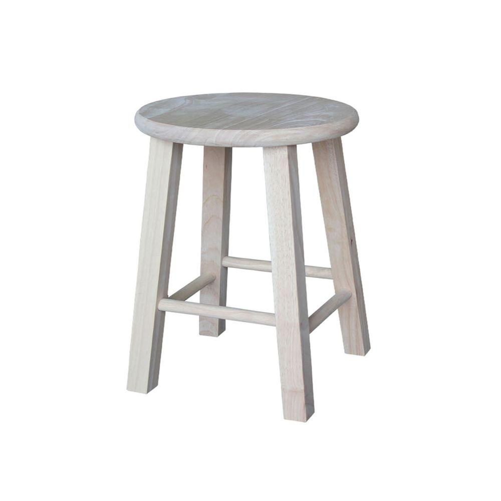 International concepts 18 in unfinished wood bar stool 1s 518 the home depot Home depot wood bar stools