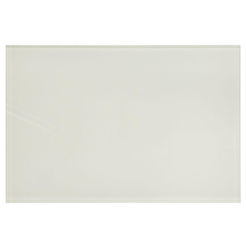 Jeffrey Court Lunar White 8 in. x 12 in. x 7.93 mm Glass Wall Tile (7.99 sq. ft. / case)