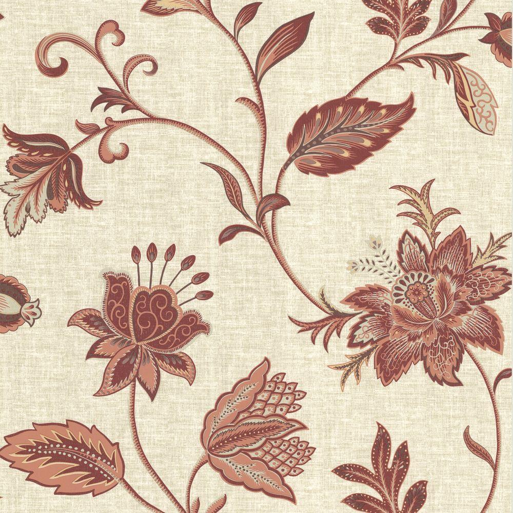 brewster red jacobean floral - photo #25