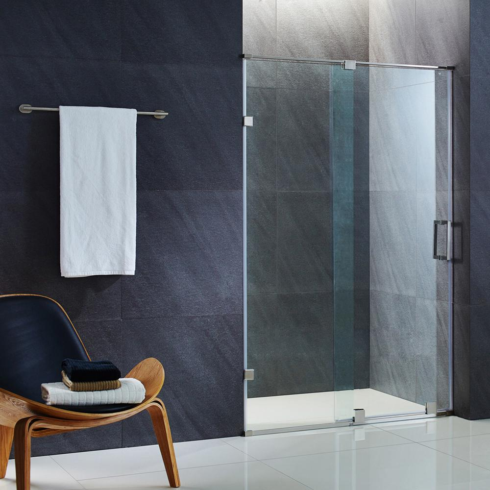 Ryland 50 in. x 71.5 in. Semi-Framed Sliding Shower Door with