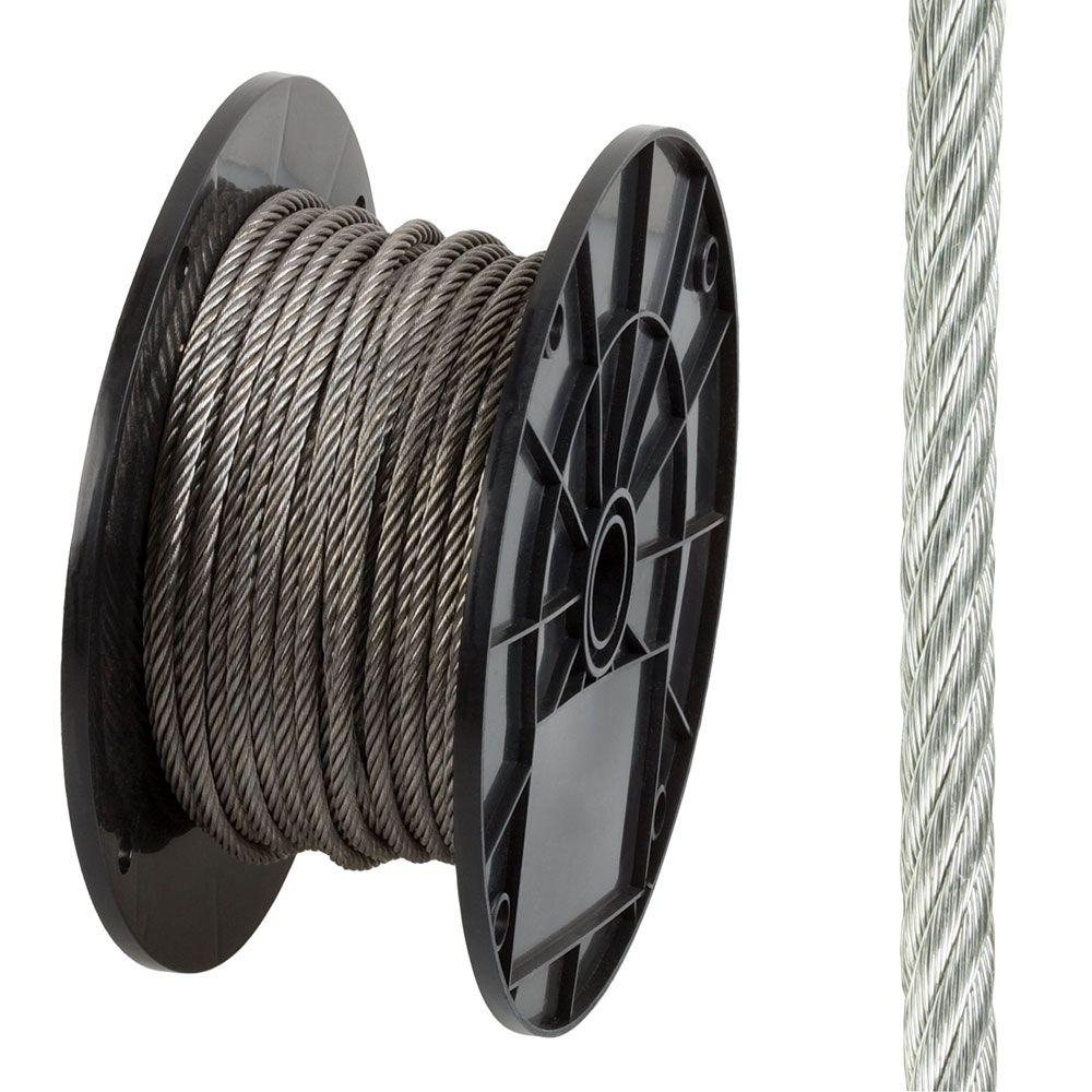 3/16 in. x 125 ft. Stainless Steel Uncoated Wire Rope