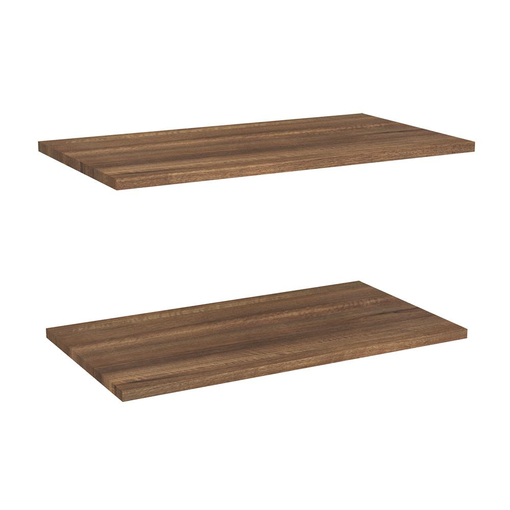 Impressions 24 in. W Walnut Laminate Extra Shelves (2-Pack)