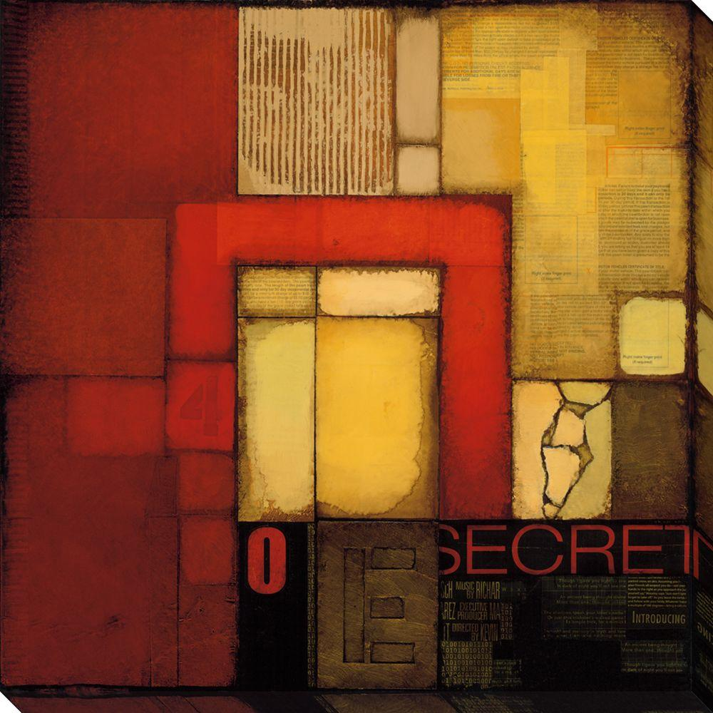 NEP Art 40 in. x 40 in. Secret Letter I Oversized Canvas Gallery Wrap