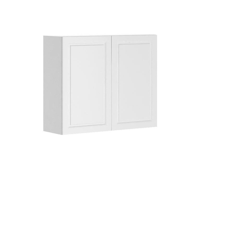 Ready to Assemble 36x30x12.5 in. Florence Wall Thermofoil Cabinet with Full