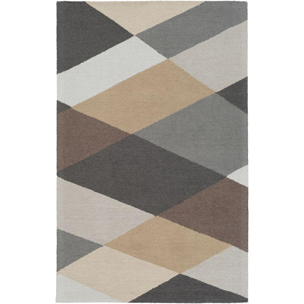 Impression Leah Gray Multi 4 ft. x 6 ft. Indoor Area