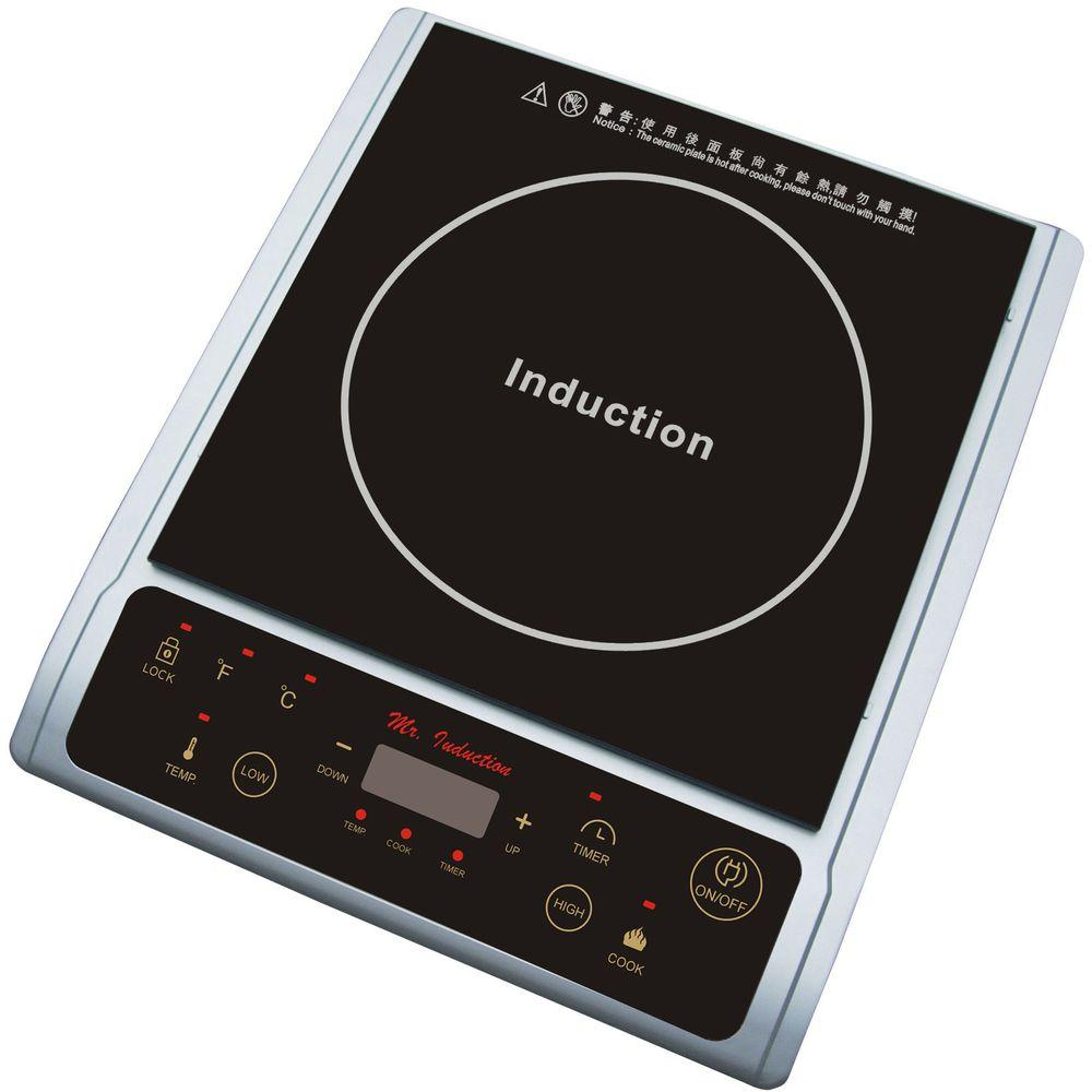 SPT 1300Watt Countertop Induction Cooktop in Silver-SR-964TS - The Home Depot