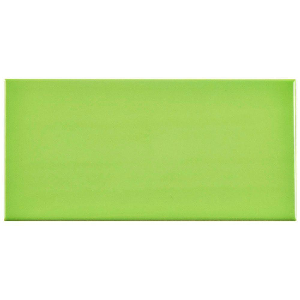 Park Slope Subway Glossy Kiwi Green 3 In X 6 Ceramic Wall Tile