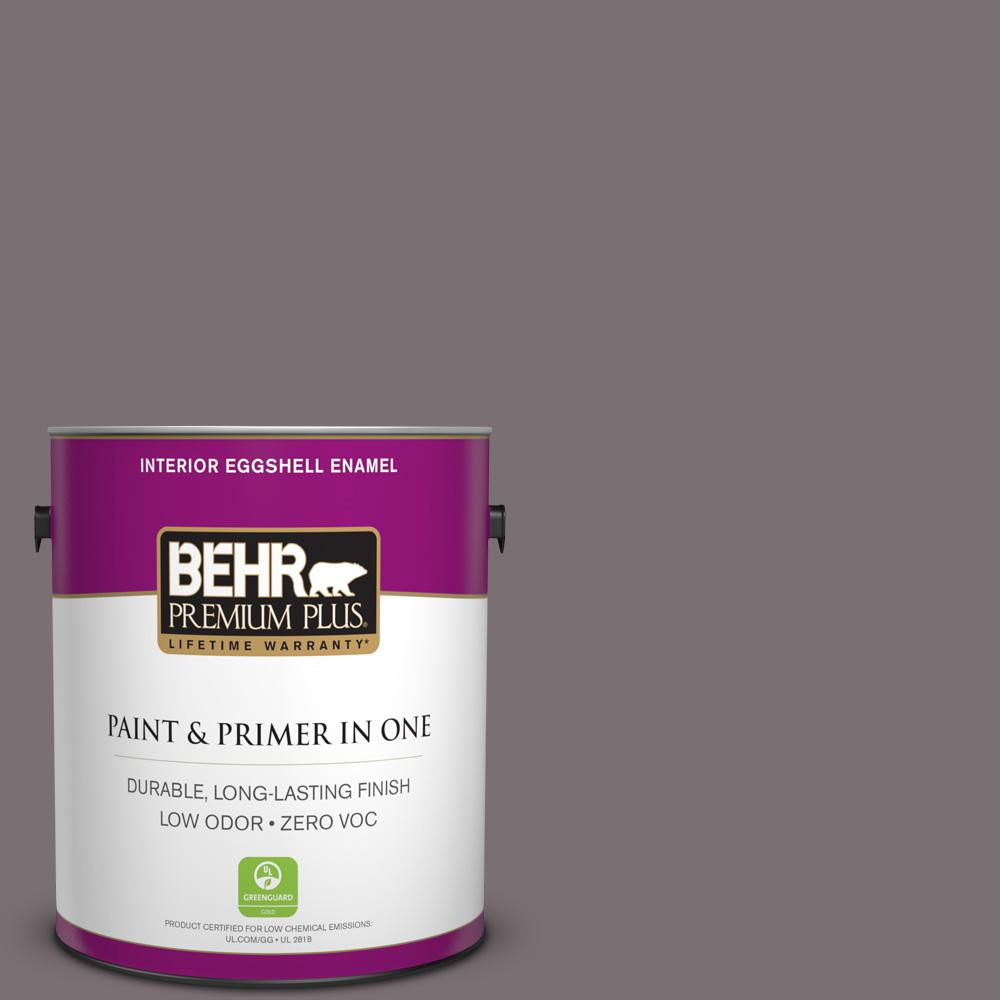 BEHR Premium Plus Home Decorators Collection 1-gal. #HDC-AC-27 Heather Sachet Zero VOC Eggshell Enamel Interior Paint