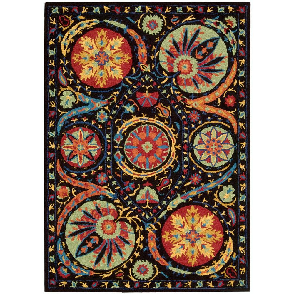 Nourison Suzani Black 8 ft. x 10 ft. 6 in. Area Rug