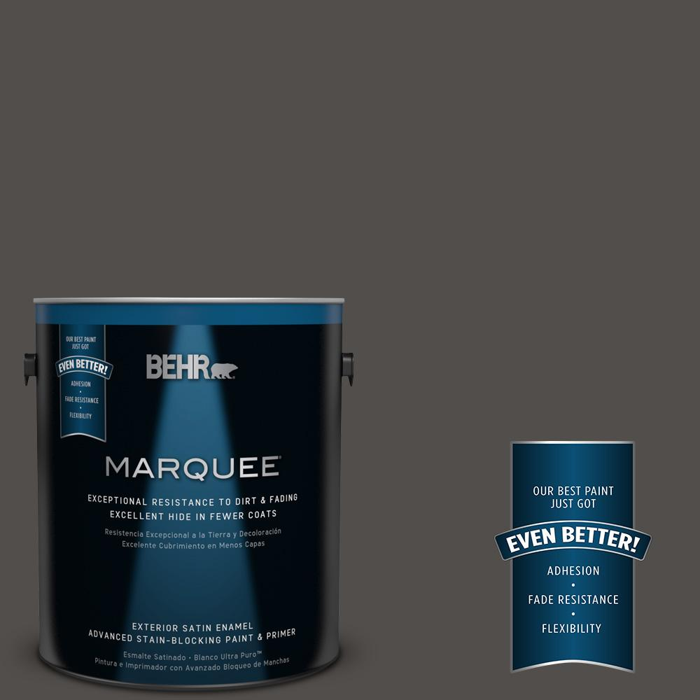 BEHR MARQUEE 1 gal. #PPU24-02 Berry Brown Satin Enamel Exterior Paint-945301