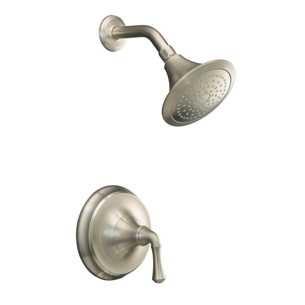 Kohler Forte Single Handle 1 Spray Shower Faucet Trim With Rite Temp Pressure Balancing In
