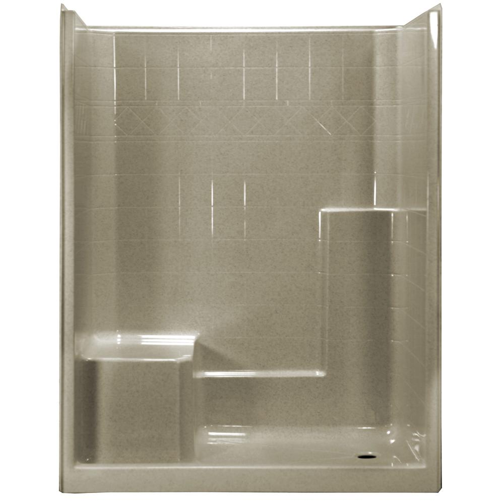 60 in. x 33 in. x 77 in. 1-Piece Low Threshold