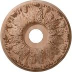 20 in. Unfinished Cherry Carved Florentine Ceiling Medallion