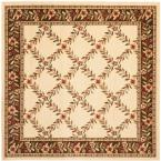 Lyndhurst Ivory/Brown 6 ft. 7 in. x 6 ft. 7 in. Square Area Rug