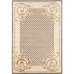 Martha Stewart Scrollwork Creme 5 ft. 3 in. x 7 ft. 6 in. Area Rug