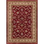 Barclay Sarouk Red 7 ft. 10 in. x 9 ft. 10 in. Traditional Floral Area Rug