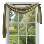 Ombre Sage Polyester Scarf Curtain - 50 in. W x 144 in. L
