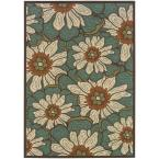 Jubilee Blue/White 5 ft. 3 in. x 7 ft. 6 in. Area Rug
