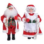 15 in. Mr. and Mrs. Claus with Coffee Mugs (Set of 2)