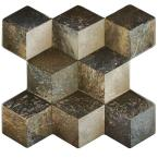 Cubic Ceniza 3D 15-1/4 in. x 16 in. Ceramic Floor/Wall Tile (15.6 sq. ft. / case)