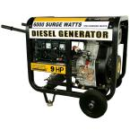 6,000 Surge/5,500 Running-Watt Diesel Electric Start Generator with Voltage Selector Switch