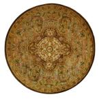 Classic Beige/Olive 8 ft. x 8 ft. Round Area Rug