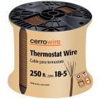250 ft. 18/5 Brown Solid Thermostat Wire