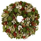 Zesty Chili and Mixed Herb 18 in. Dried Floral Wreath