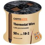 50 ft. 18/2 Brown Solid Thermostat Wire