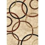 Circle of Life Bisque 7 ft. 10 in. x 10 ft. 10 in. Indoor Area Rug