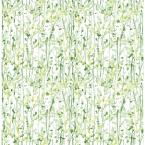 8 in. W x 10 in. H Willow Green Leaves Wallpaper Sample