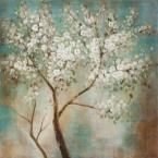 "20 in. x 20 in. ""Tree In Bloom"" Hand Painted Contemporary Artwork"