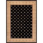 Barclay Hudson Terrace Black 2 ft. 3 in. x 3 ft. 11 in. Traditional Border Area Rug