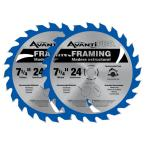 7-1/4 in. x 24-Tooth Framing Saw Blade (2-Pack)