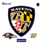 44 in. H x 38 in. W Baltimore Ravens Shield Logo Wall Mural