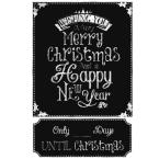 2.5 in. x 27 in. Christmas Countdown Chalkboard Peel and Stick Wall Decals