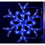 3 ft. Pre-Lit Pole Decorations Garland Snowflake with Blue Lights