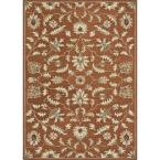 Fairfield Lifestyle Collection Rust 5 ft. x 7 ft. 6 in. Area Rug