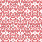 18 in. Red Damask Adhesive Shelf Liner