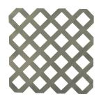 4 ft. x 8 ft. Nantucket Gray Garden Plastic Lattice