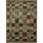 Swirls Brown 7 ft. 9 in. x 10 ft. 10 in. Area Rug
