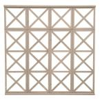 1.5 in. x 78.5 in. x 6.45 ft. Four High Decorative X Panel